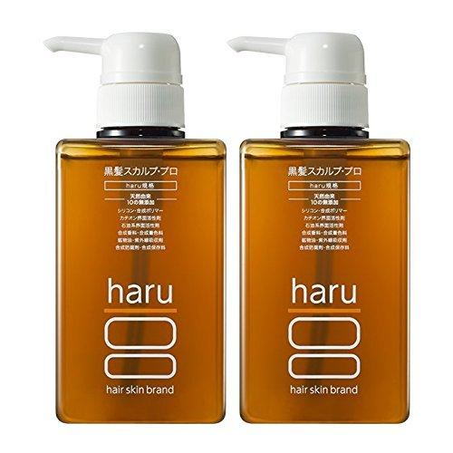 Amazon | 《5% OFF》haru 黒髪スカルプ・プロ 400ml 2本セット