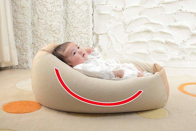Amazon | Cカーブ授乳ベッド おやすみたまご 新生児~8ヵ月
