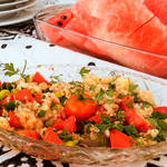 海峡みながらさわやかトルコ料理パーティー♪『茄子とハーブのサラダ』