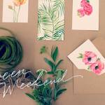 好きを集めてデザインのヒントにしよう。水彩絵の具で作る小さなギフトカード