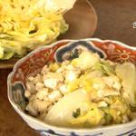 お酒のあてに、ご飯のおかずにも。やわらか「春キャベツのと豆腐のマヨネーズ炒め」