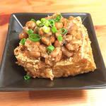 1日頑張った自分に今日最後のひと手間!厚揚げ納豆とかぶの梅肉サラダのつくり方