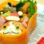 【クリスマスver】キャラ弁レシピ:妖怪ウォッチ ジバニャンの作り方