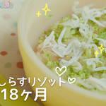 [離乳食12~18ヶ月]トマトしらすリゾットの作り方 パクパク期 レシピ 作り方 はじめての離乳食