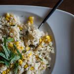 たくさん食べたい!夏季限定、トウモロコシと大葉のチャーハン