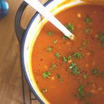 トマトの味を感じよう♪ドライトマトで濃厚に仕上げたじっくり煮込んだトマトスープ!