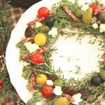 クリスマスのテーブル華やかに彩るリコッタチーズのリースのサラダ!