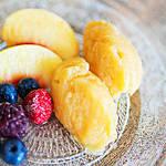 完熟したあま〜い桃で作りたい溶けにくい寒天入りの桃のシャーベット!