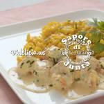 海老とホタテの軽いカレー煮をサフランリゾットと共に | Sapore di Junta