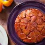 簡単なのに華やか♡柿をたっぷり使ったアップサイドダウンケーキ