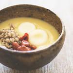 好きな豆をチョイスして食感を楽しもう♪さつまいもとカモミールティーのあったかスイーツ!