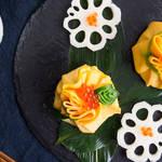 色鮮やかで春らしい!キュートな見た目の茶巾寿司♡
