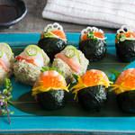 テーブルに並べれば華やかさ倍増♪色鮮やかでかわいいぱっかん寿司♡