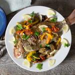 フライパンひとつで作るパーティー料理♡真鯛のアクアパッツァ