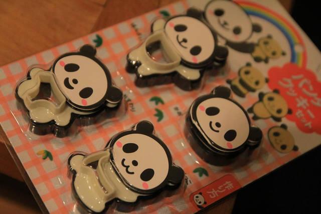 パンダのクッキー型
