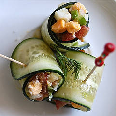 Rolled cucumber salad | Flickr - Photo Sharing! (6655)