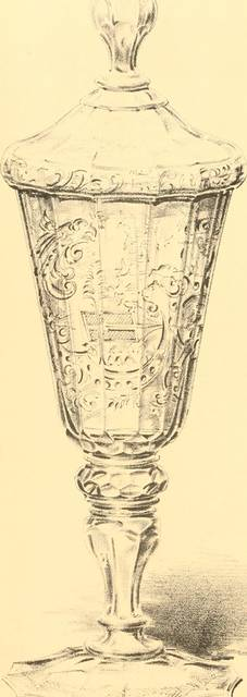 "Image from page 135 of ""Old English glasses. An account of glass drinking vessels in England, from early times to the end of the eighteenth century. With introductory notices, original documents, etc"" (1897) by Internet Archive Book Images (7386)"