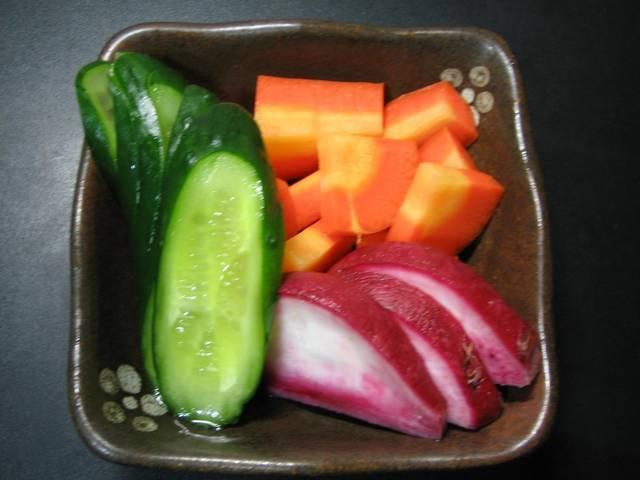 夏野菜のぬか漬け。
