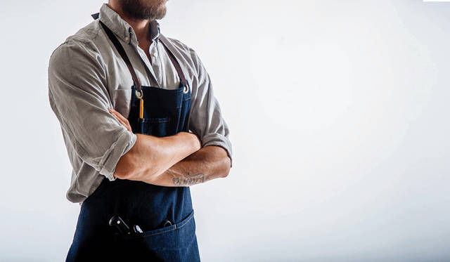 Stylish Workwear Aprons made in NYC & Brooklyn | Jones of Boerum Hill (15255)