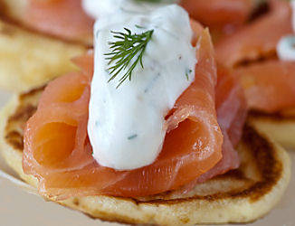 Russian Blinis and smoked salmon by Catherine Ford MALAGA (22158)