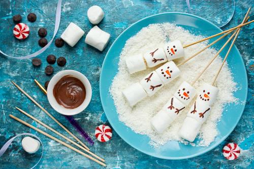 Snowman Marshmallow Pops Christmas Food Art Idea Stock Photo 507821110 : Shutterstock (30546)