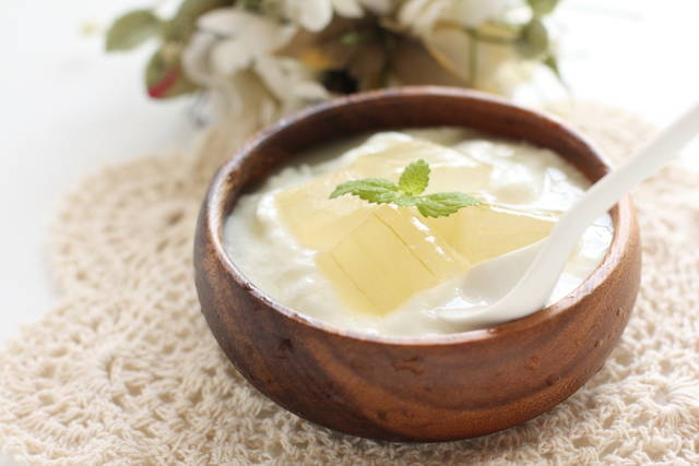 Aloe Vera And Yogurt With Mint On Top For Healthy Breakfast Image Stock Photo 203015743 : Shutterstock (30551)