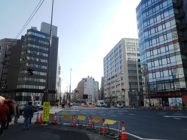 日比谷線虎ノ門新駅 北端の交差点