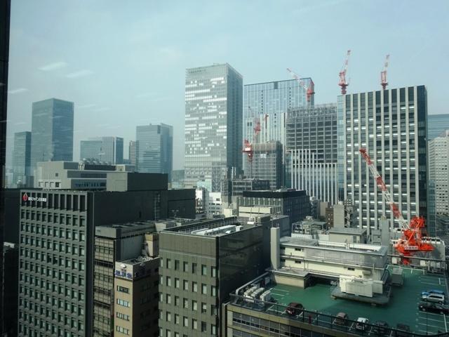 東京日本橋タワーから東京駅方面の眺望