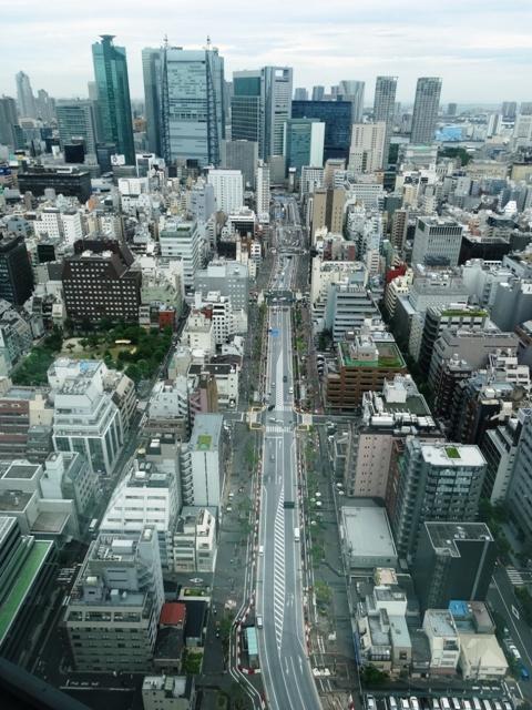 虎ノ門ヒルズからの東京都環状二号線