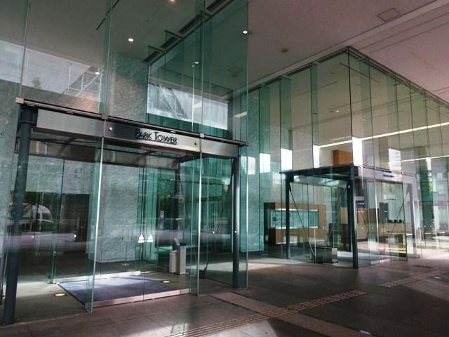 品川シーサイドパークタワーのエントランス