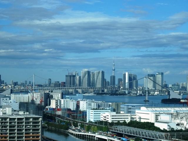 品川シーサイドから都心部方面の眺望