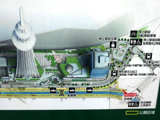 東京スカイツリー イーストタワー周辺図