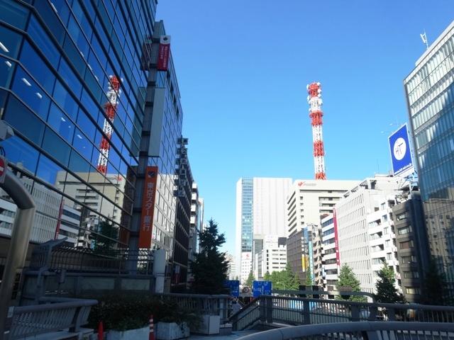 サクセス銀座7ビル前の昭和通り