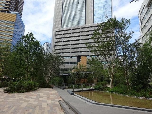 赤坂インターシティAIR 庭園の池