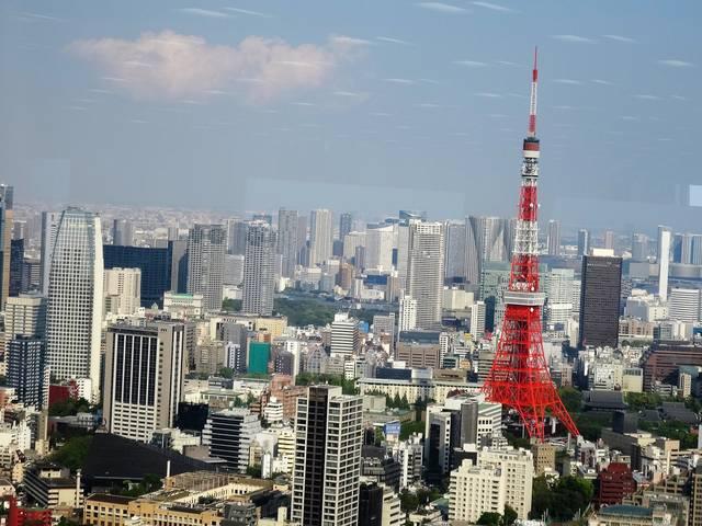 東京タワー方面の眺望