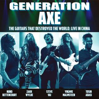 ギタリスト版アベンジャーズ GENERATION AXE『The Guitars That Destroyed The World: Live In China』