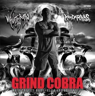東京エクストリーム・メタル2バンドによるスプリット WHILE THE CITY BURNS/KANDARIVAS『GRIND COBRA』