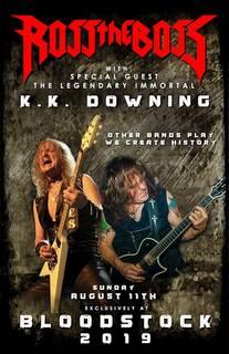 8月にK.K.ダウニングが元マノウォーのROSS THE BOSSと共演