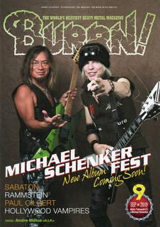 2019年8月5日発売『BURRN!9月号』表紙はマイケル・シェンカー×高崎晃、巻頭特集はマイケル・シェンカー・フェスト