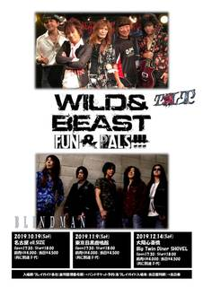 TILTとBLINDMANが激突『WILD&BEAST FUN&PALS』DOUBLE HEADLINE TOUR開催