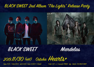 "11/30 BLACK SWEET 2nd Album ""The Lights"" release party"