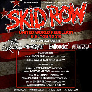SKID ROWが11月末からUKツアー開始をアナウンス
