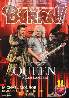 BURRN! 2019年11月号 QUEEN + ADAM LAMBERT 独占リポート&最新インタビュー
