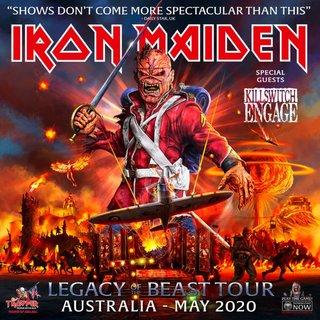 IRON MAIDENが豪州で行われる『Legacy Of The Beast』ツアーの日程を発表