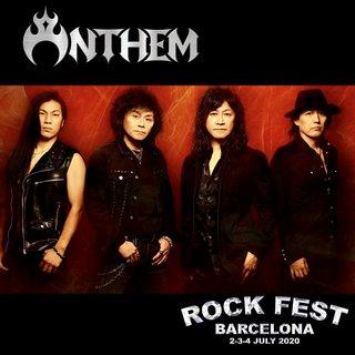 ANTHEM 2020年7月にスペインで開催される「ROCK FEST BARCELONA 2020」に出演決定!
