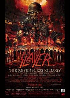 SLAYERの映像作品『THE REPENTLESS KILLOGY』東京上映ゲストDJにOUTRAGEの丹下眞也が決定&ライヴ・フィルムの日本版トレイラーも公開