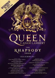 QUEEN+ADAM LAMBERT、UK&ヨーロッパ・ツアー延期。2021年振替公演日程を発表!
