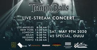 TEMPLE BALLSが5月10日(日) 0:30AM(日本時間)に無料ライブストリーム出演