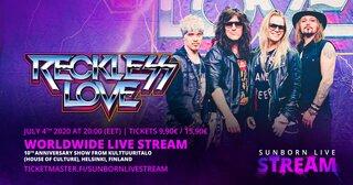 RECKLESS LOVEが10周年記念ショーを7月4日(土)20時(日本時間7月5日午前2時)よりワールドワイドライブストリーム配信!