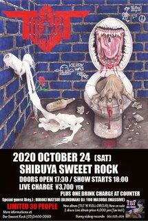 ライブの帝王TILT セルフ・カヴァー・ユニットToILeTのライブが10月24日に限定30名で渋谷Sweeet Rockにて開催